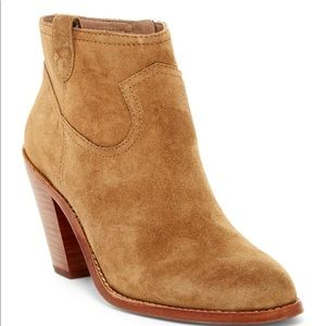 Ash tan/sand leather suede booties SIZE 7.5